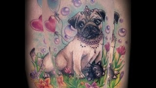 Girlie Pug Princess Tattoo By Cira Las Vegas