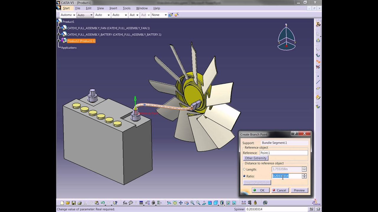 Catia V5 - Creating Bundles And Harness Routing