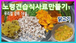 20210330 노령견 습식사료 만들기(닭고기)