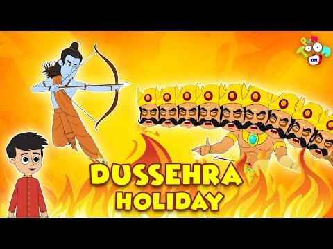 Dussehra Holiday   Dussehra Holiday   Animated Stories   English Cartoon   Moral Stories   PunToon
