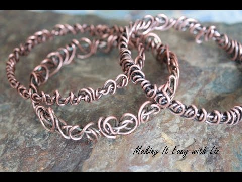 BOHO-CHIC BANGLE~Easy Wire Work