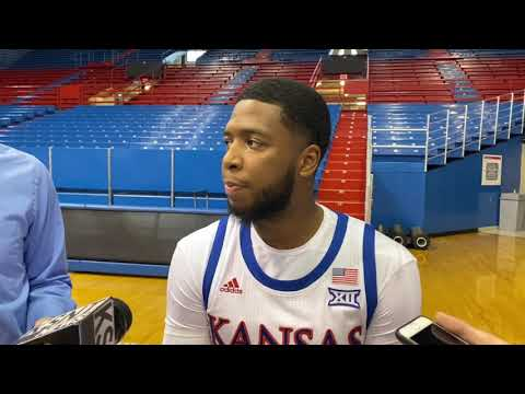 Isaiah Moss explains why he chose the Jayhawks during media day   KUsports Video