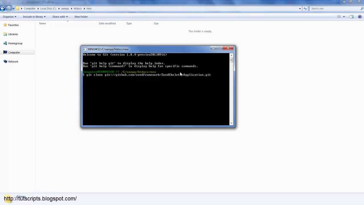 How you can install Zend Framework 2 in xampp server