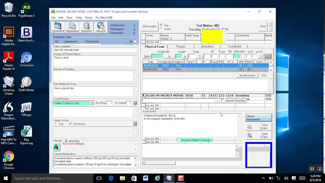 Amazingcharts Emr Ehr Demo By 1 Focus Medical Software