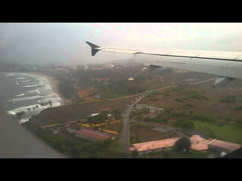 Go Air Mumbai -Goa Flight Landing