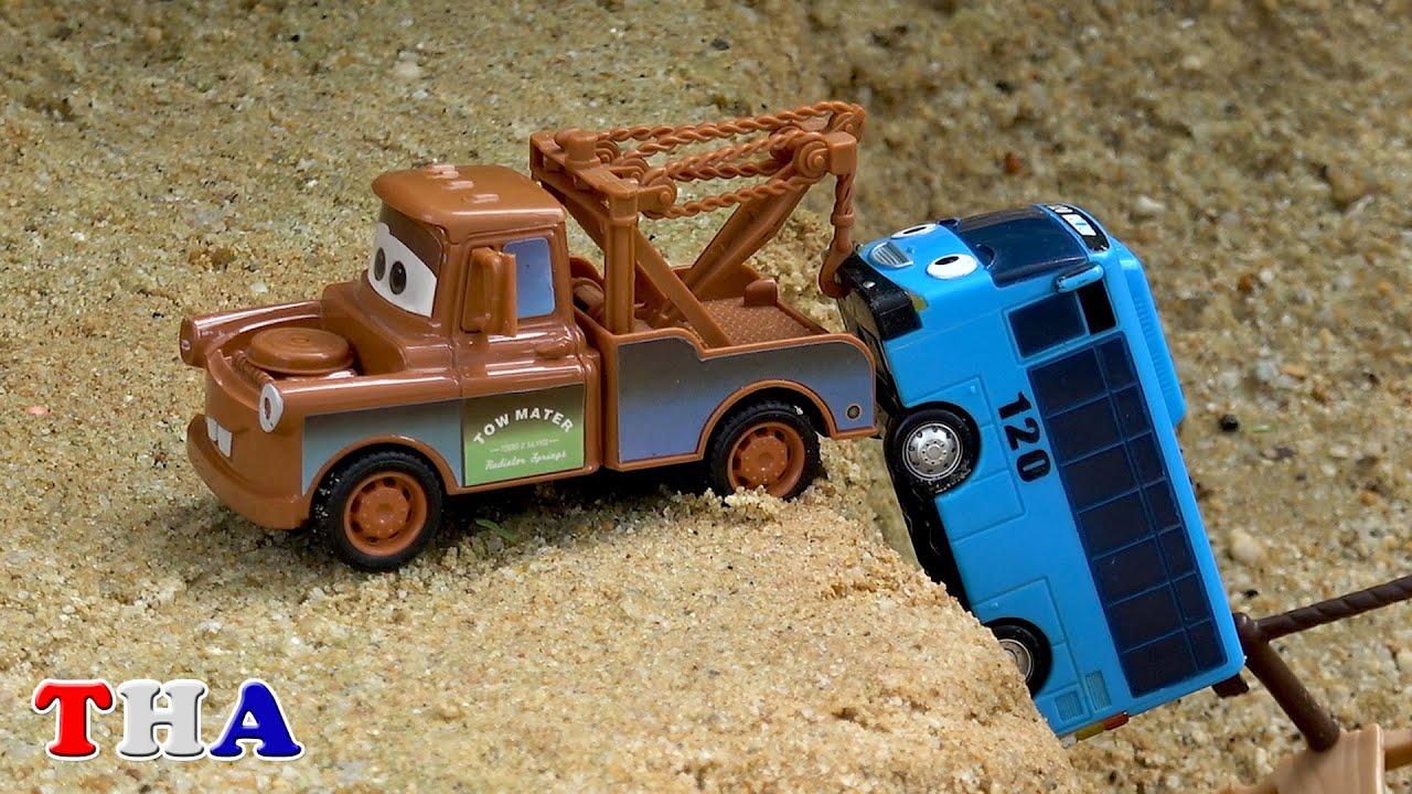 รถดิสนีย์ ตำรวจและรถพยาบาล รถกู้ภัย tayo
