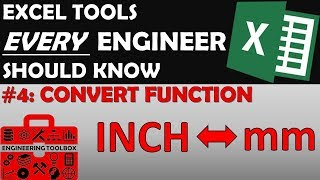 Convert Function - Excel Tips and Tools Every Engineer Should Know #4