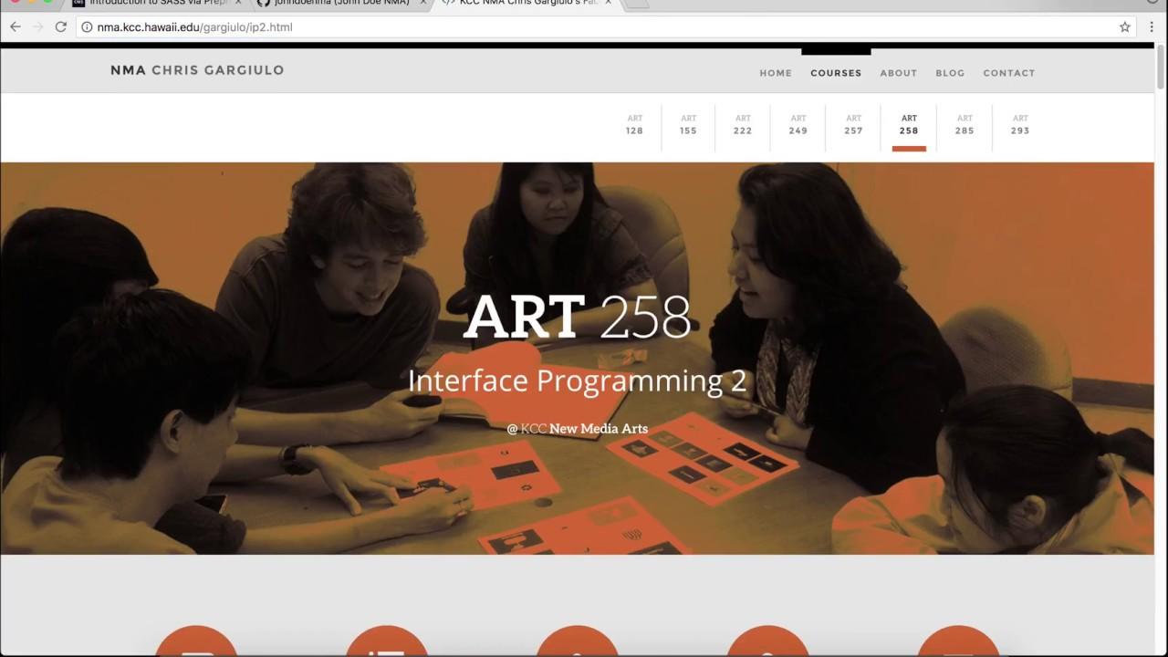 KCC NMA Chris Gargiulo's Faculty Site - Interface Programming 2