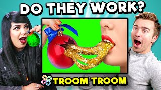 Baixar Adults React To and Try Troom Troom Hacks and 5-Minute Crafts To See If They Actually Work