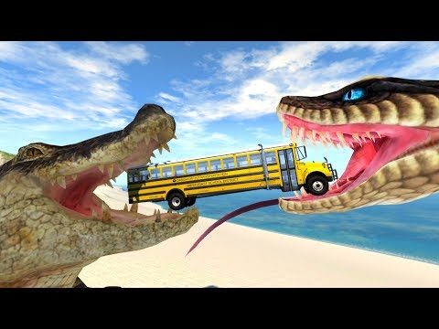 BeamNG Drive - Stairs Descend To Crocodiles And Snakes