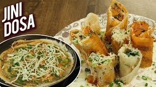 Jini Dosa - Mumbai Street Style Dosa Recipe - How to Make Jini Dosa At Home - Special Dosa - Varun