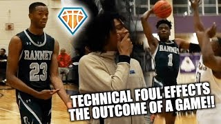 TECHNICAL FOUL DECIDES GAME!! | Bryan Antoine & Scottie Lewis Have John Wall Invitational Debut