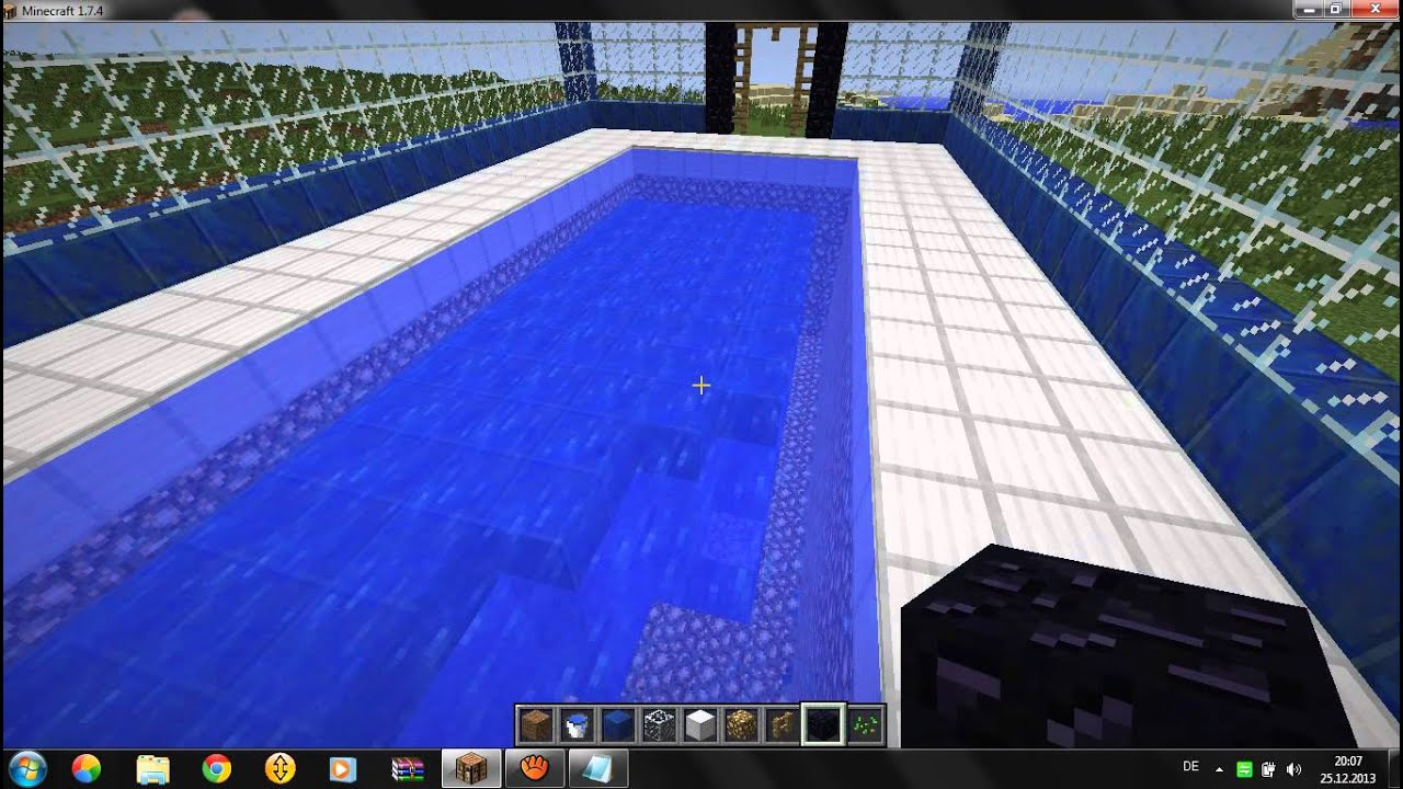 Perfect Minecraft Lets Play #2 Schwimmbad Bauen Tutorial