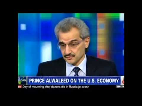 Prince Al waleed Bin Talal on CNN with Piers Morgan