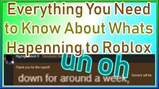 Roblox Is Going to Be Down / Broken / Laggy for a WEEK..? | Everything You Need to Know