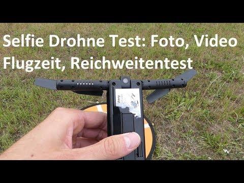 Selfie Drohne Test: Foto, Video, Reichweite, Flugzeit + -verhalten (Netto Drohne/ Flitt Drohne)