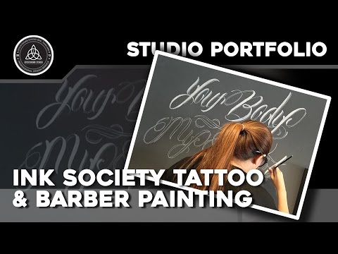 """Ink Society Tattoo & Barber"" Painting Timelapse"