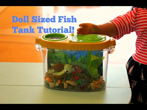 American girl doll sized fish tank craft tutorial youtube for American girl crafts diy