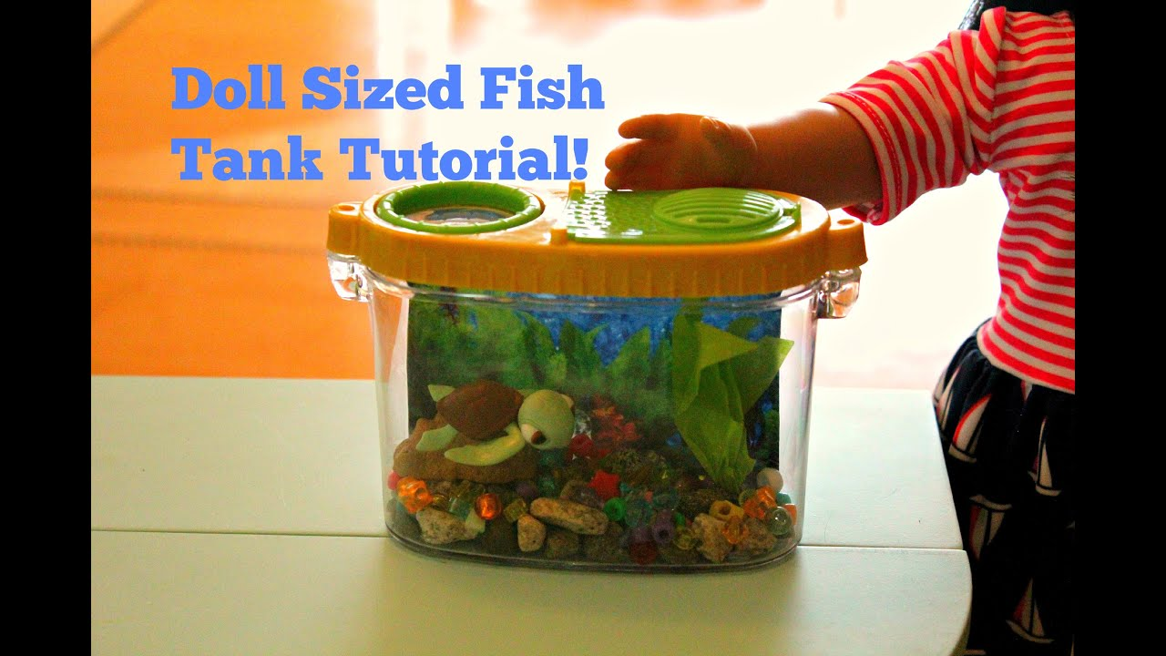 American Girl Doll Sized Fish Tank Craft Tutorial