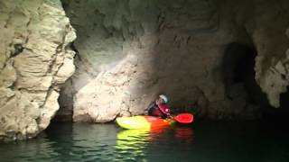 session harmonica par Ivan en kayak sous le Pont d'Arc (Ardèche) - 1