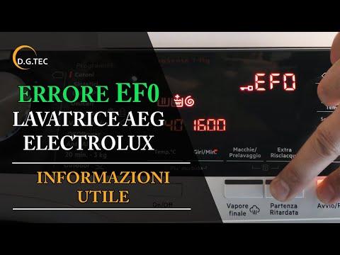 Lavatrice Electrolux Aeg - Allarme EF0