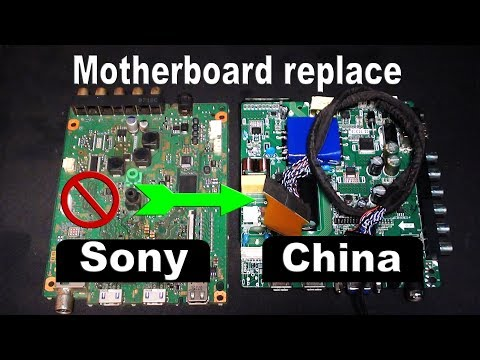 How To Install China Motherboard On Sony Bravia LED TV.
