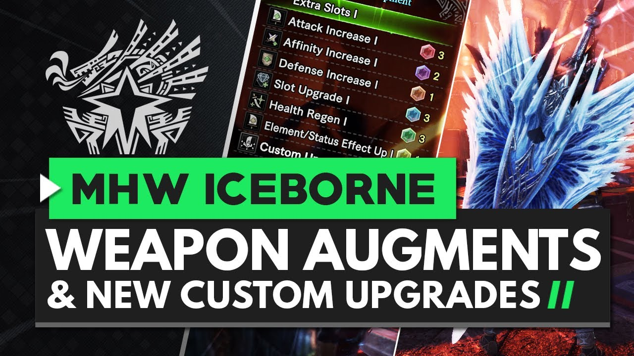 Monster Hunter World Iceborne | End Game Master Rank Weapon Augments &  Custom Upgrades Explained