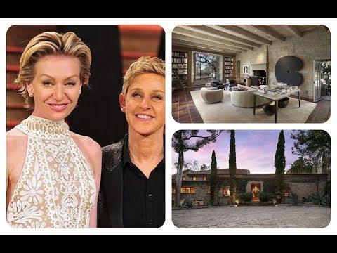 ★ Tour Ellen Degeneres And Portia De Rossi 'S Sprawling Santa Barbara Villa | HD
