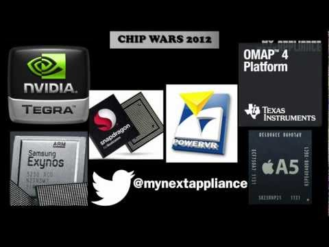 iPhone 5 vs Samsung Galaxy S3 vs HTC One X vs Droid 4 - CHIP WARS #8 - FINALE 2012 Flagship Chips
