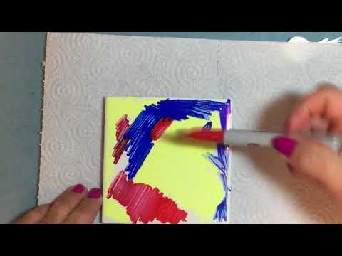 painting-ceramic-tile-coasters-with-sharpies