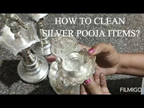 வெள்ளி பூஜை பொருட்களை எப்படி சுத்தம் செய்வது?How to Clean & Store Silver Pooja Item at Home in Tamil