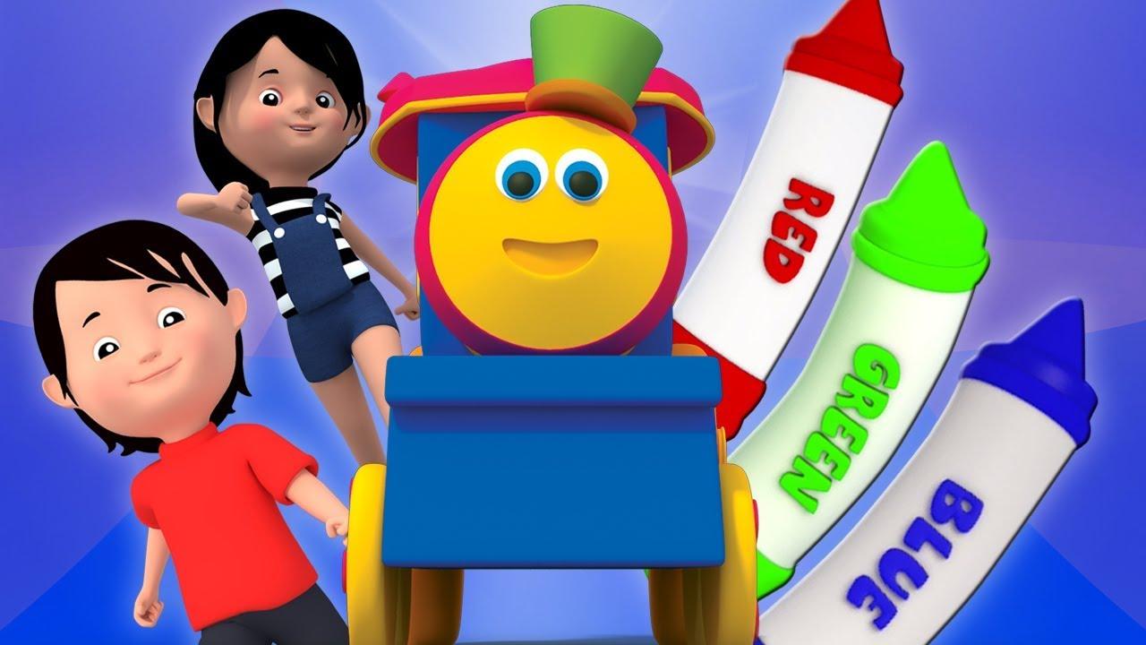 bob le train crayons couleurs chanson comptine chansons pour enfants bob crayons colors. Black Bedroom Furniture Sets. Home Design Ideas