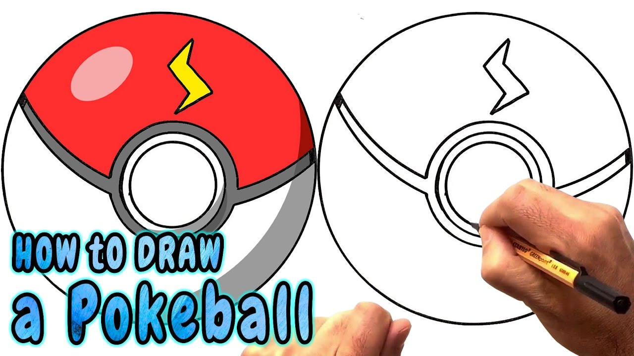 how to draw a pokeball from pokemon go pikachu ball narrated