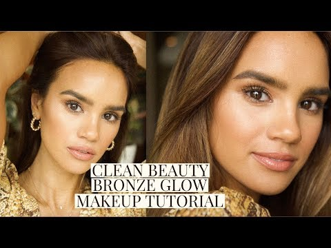 CLEAN BEAUTY BRONZE MAKEUP TUTORIAL! | DACEY CASH - YouTube