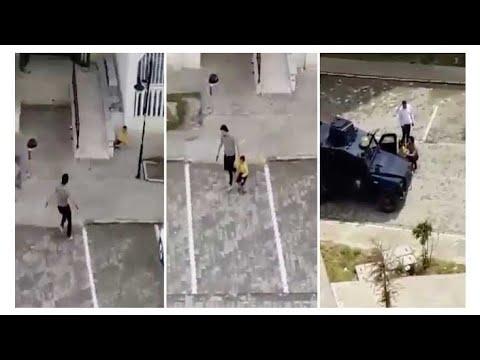 Polis site bahçesinde oynayan çocukları dağıtmak için havaya ateş açtı