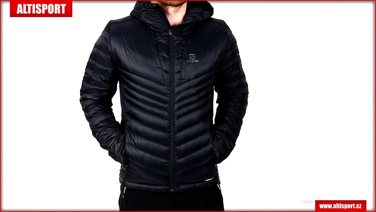 086558edf pánská péřová bunda salomon haloes down hoodie m l40384600 black ...
