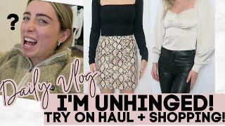 DAILY VLOG: LOSING MY MIND, XLE TRY ON HAUL, SHOPPING!   Lauren Elizabeth