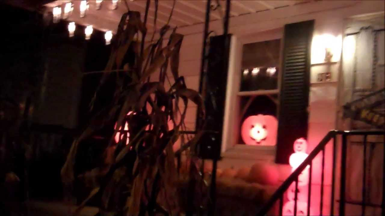 halloween night 2012 pumpkins blow mold decorations yard display