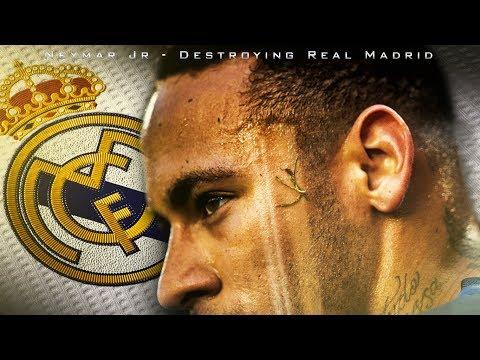 Neymar Jr 2017 | Destroying Real Madrid | Crazy Skills and Goals | HD