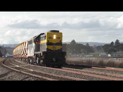 Australian Diesel Trains at Jacana and Donnybrook in Victoria