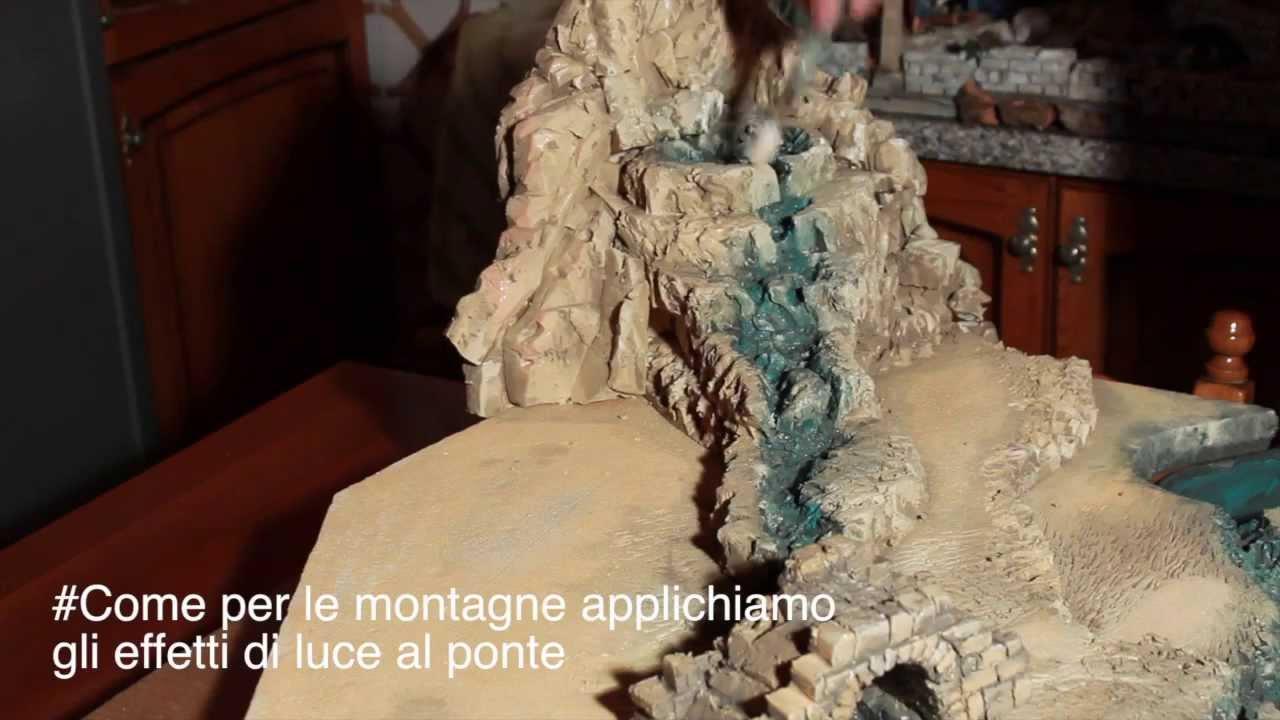 Dipingere ponte case ed oggetti del presepe  Parte11