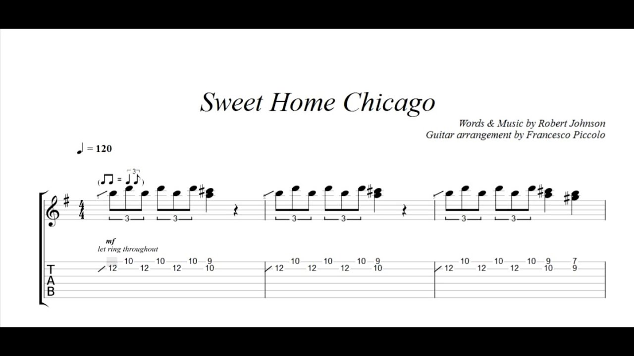 Fingerstyle guitar robert johnson sweet home chicago from fingerstyle guitar robert johnson sweet home chicago from hits collection nr7 hexwebz Image collections
