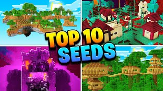 TOP 10 BEST NEW SEEDS For Minecraft NETHER UPDATE 1.16! (Mobile, PS4, Xbox, PC, Switch)