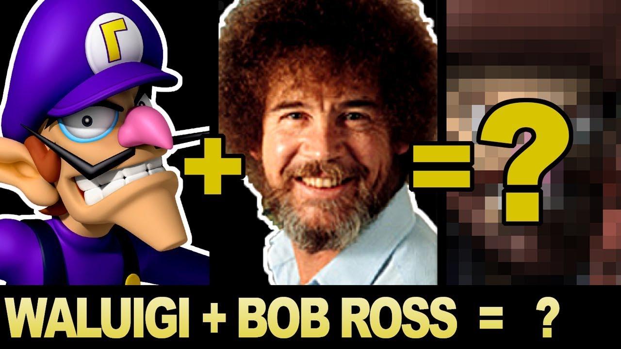 bizarre-character-mashups-waluigi-bob-ross-feat-theboxofficeartist