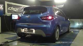 Reprogrammation Moteur Renault Clio 4 gt 120cv @ 130cv Digiservices Paris 77183 Dyno
