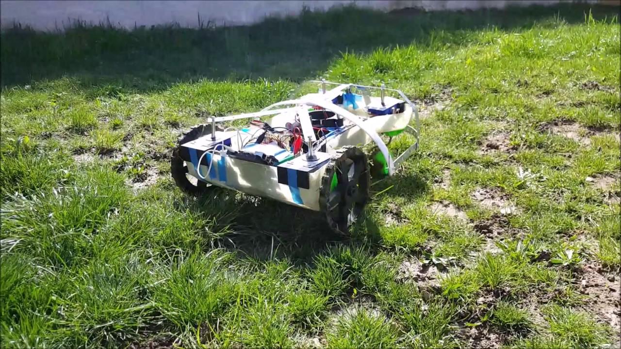 4 premier test de coupe robot tondeuse diy robot lawnmower diy diy lawn mower robot youtube. Black Bedroom Furniture Sets. Home Design Ideas
