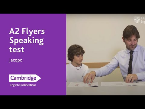 A2 Flyers Speaking test – Jacopo   Cambridge English