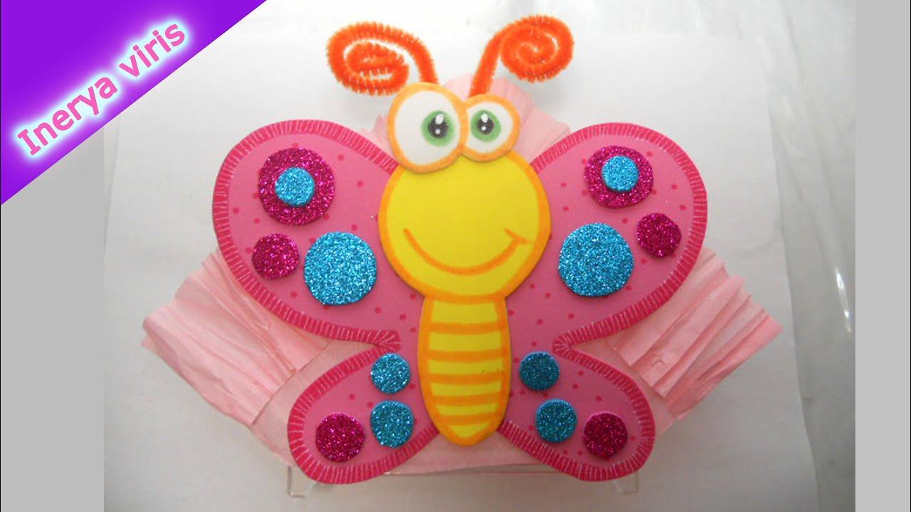 Como decorar servilleteros fiesta cumplea os mariposa tutorial inerya viris youtube - Como decorar una salita ...