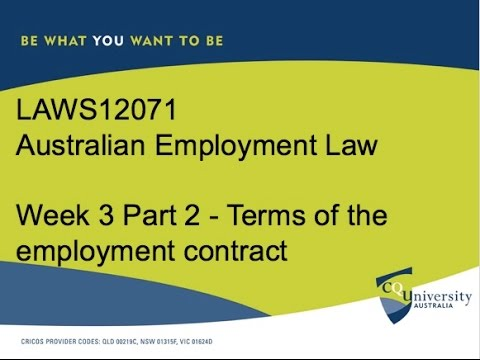 Terms of Employment Contracts