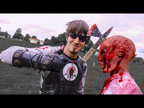 BEST THROWING TOMAHAWK IN THE WORLD! The Flying Death Dagger! Zombie Go Boom